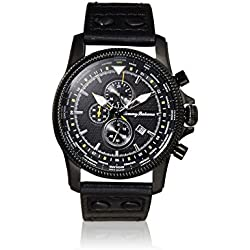 Tommy Bahama RELAX Men's 10024824 Paradise Pilot Dual Time Chronograph (Air) Analog Display Japanese Quartz Black Watch