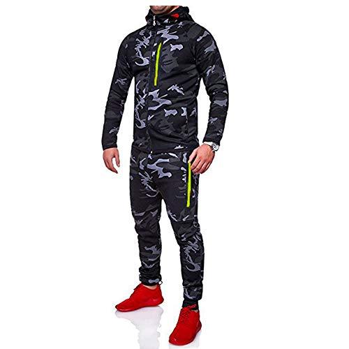 De Survêtement Jogging Bodybuilding Capuche Homme Sport Muscle Sweat Veste Ensemble Corps shirt Morbuy Tenue Pantalon Coupe Foncé Gris Camouflage 4qY0HnE