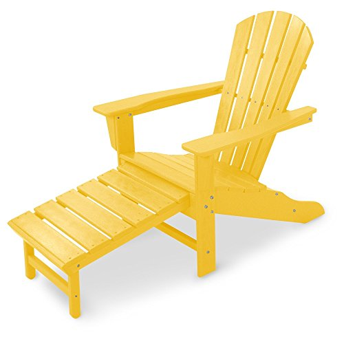 POLYWOOD HNA15LE Palm Coast Adirondack Chair, Lemon For Sale
