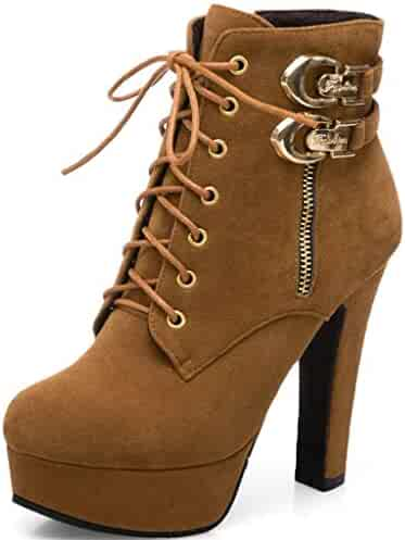 | Ifantasy Fashion Women's Lace Up Ankle Booties