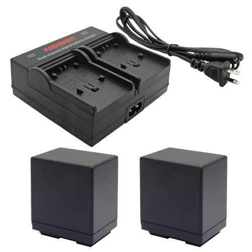 Kapaxen Two BP-745 Intelligent Batteries + Dual Channel Charger for Canon VIXIA Camcorders