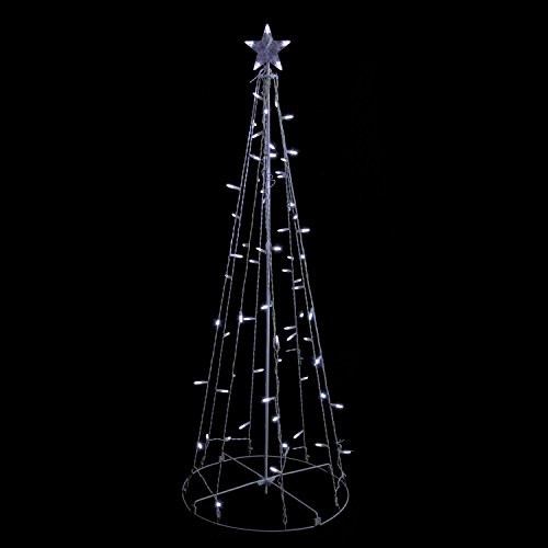 Outdoor Lighted Metal Trees - 3