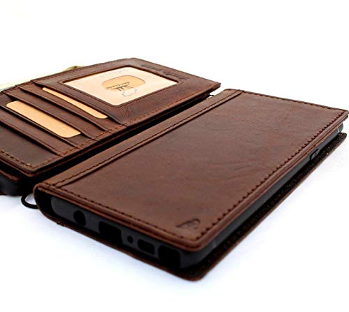 Genuine Leather Case for Samsung Galaxy Note 9 Book Wallet Luxury Cover S Handmade Soft Holder Cards daviscase