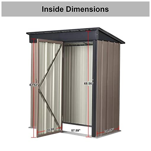 Garden and Outdoor DOIT 5'x3'x6′ Outdoor Metal Garden Storage Shed,Outdoor Tool House Heavy Duty Tools Sheds outdoor storage sheds