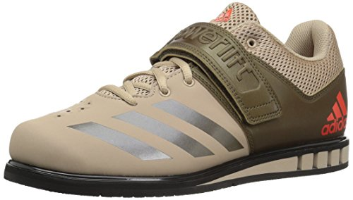 adidas Men's Powerlift.3.1 Cross Trainer, TECH Beige/Trace Olive/Black, 9.5 Medium US