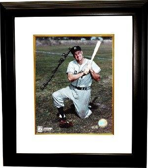 Signed Duke Snider Photo - 8x10 Custom Framed Full Name - Autographed MLB Photos