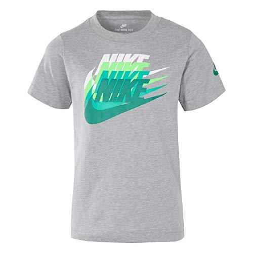 NIKE Children's Apparel Boys' Toddler Graphic T-Shirt, Dark Grey Heather/Green, 4T