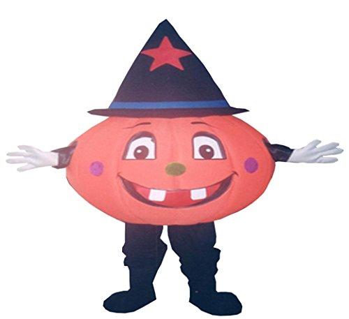 Pumpkin Mascot Costume Halloween Party Character Adult]()