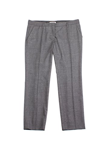 Prada Women's Wool Trouser Pants Charcoal - Prada Apparel