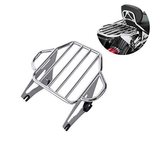 TCMT Chrome Adjustable Detachable Two Up Tour Pack Motorcycles Backrest Mounting Luggage Rack Fits For Harley Road Glide 2009-2020