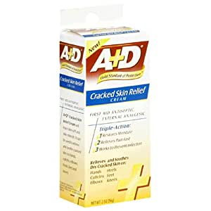 A+D Cracked Skin Relief Cream, 2-Ounce Tubes (Pack of 4)