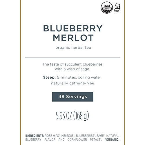 Tea Forté BULK PACK Blueberry Merlot Herbal Tea, 48 Handcrafted Pyramid Tea Infusers by Tea Forte (Image #3)