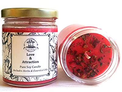 Love & Attraction 8 oz Soy Spell Candle Romance & Relationships Wiccan Pagan Hoodoo by Art of the Root, Ltd.