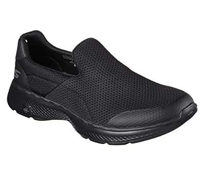 Skechers GO WALK 4 - INCREDIBLE Men's Walking Shoe, Black/Black, 7 US