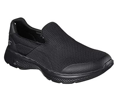 Skechers GO WALK 4 - INCREDIBLE Men's Walking Shoe, Black/Black, 8 US