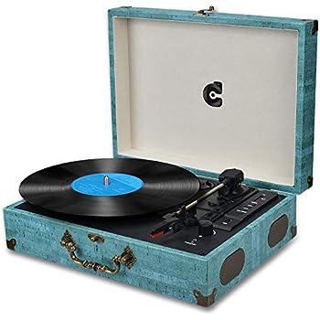 Amazon.com: LuguLake - Tocadiscos de vinilo con 3 ...