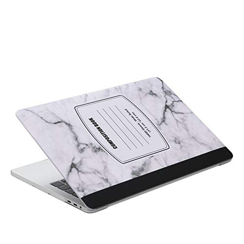 MacBook Pro 13 Case MacBook A1706 Hard Case Plastic Cover Protective Sleeve 2018 2017 2016 Release A1989/A1706/A1708 Hard Case Marble & A1706 Silicone Keyboard Cover (Marble Notebook-White)