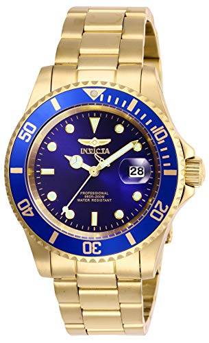 invicta mens gold watch blue dial - 9