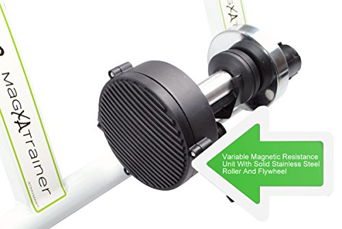 AccelaVelo Mag-XA Indoor Adjustable Magnetic Bike Trainer - 6 Levels Of Resistance - Handlebar Remote Is Included - Complete 2 Year Warranty by AccelaVelo (Image #4)