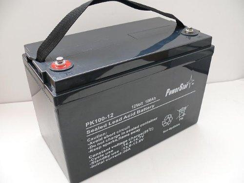 PowerStar® 12V 100Ah AGM Sealed Lead Acid Battery UB121000 Group 27 - 2 YEAR WARRANTY