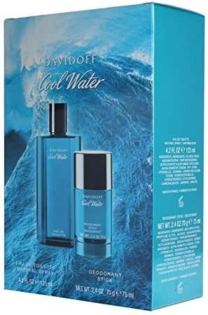 Cool Water by Davidoff 2-Piece Fragrance Set for Men (Cool Water Eau de Toilette Spray, 4.2 Ounce + Cool Water Deodorant Stick, 2.4 Ounce)