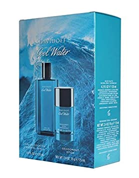 Cool Water by Davidoff 2-Piece Fragrance Set for Men Cool Water Eau de Toilette Spray, 4.2 Ounce Cool Water Deodorant Stick, 2.4 Ounce