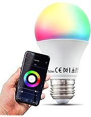 B.K.Licht I smart lamp I smart light I LED WiFi lamp I E27 lichtbron I RGB en CCT I voice control I bulb I slimme lichtbronnen I lampen