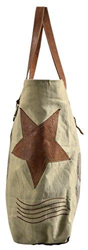 Sunsa, Borsa tote donna Marrone marrone 40-65x42x15 cm