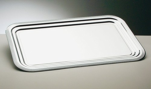 Semi-Disposable Party Tray Full Gastronorm GN1/1 size. Chrome plated with line decor.