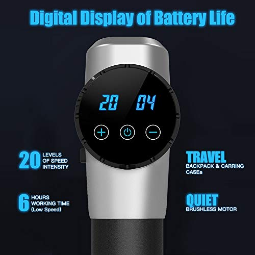 Massage Gun Professional Deep Tissue Massager Handheld Percussion Massage for Full Body Muscle Recovery and Pain Relie Device Electric Massagers for Neck and Back