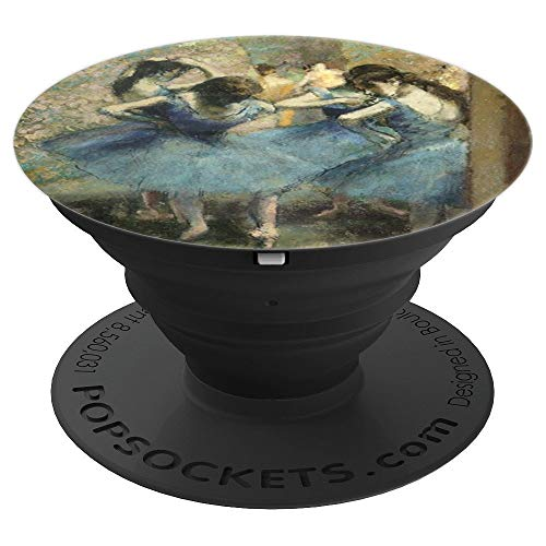 Dancers in Blue Degas Impressionist Ballerina Painting - PopSockets Grip and Stand for Phones and Tablets
