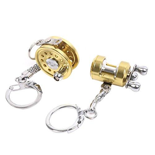 - Maxcatch Metal Fishing Reel Keychain Miniature Fishing Gift Angler Gift