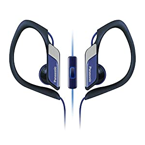 Panasonic Sports Clip Earbud Headphones with Mic/Controller RP-HS34M-A (Blue)