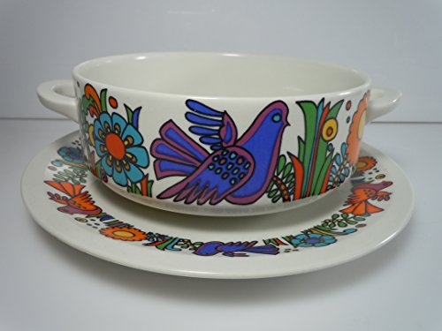 Villeroy and Boch Acapulco Cream Soup and Saucer Set (Acapulco Boch Villeroy)