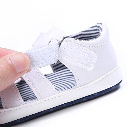 Sandalias De Bebe,BOBORA Prewalker Zapatos Primeros Pasos Para Bebe Hueco Suave Sandalias Casuales blanco