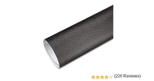 Rapid Teck Premium - Película Auto sin Burbuja con Conductos de Aire para Coche Laminado y 3D Pegar en Mate Brillo y Carbono - Aluminio Cepillado Gris Titanio, 2m x 1,52 m: