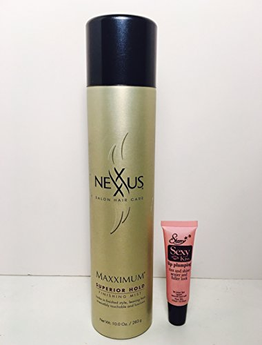 Nexxus Maxximum Superior Hold Finishing Mist 10oz /283gr (Discontinued edition)Free Starry Sexy Lip Plumping Gloss 10ml