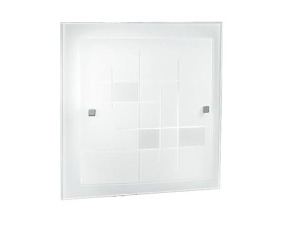Plafoniera Quadrata E27 : Fan europe plafoniera semplice quadrata e w bianco
