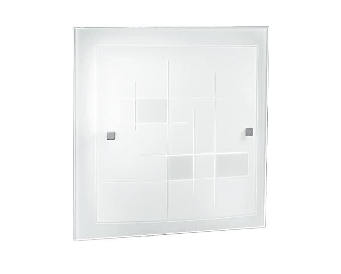 Plafoniera Led Quadrata 30x30 : Fan europe plafoniera semplice quadrata e w bianco