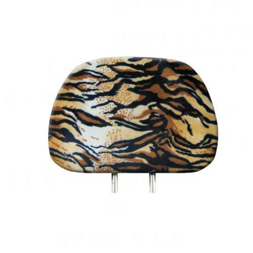 BDK Car Headrest Cover in Animal Print - Siberian Tiger