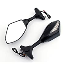 Honda CBR 600RR / 1000RR Black OEM Style Racing Mirrors w/ Turn Signals - Left & Right (2003-2012)