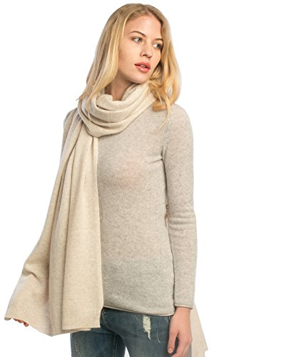 Cashmere 4 U Woman 100% Cashmere Extra Large Knitted Stole Shawl