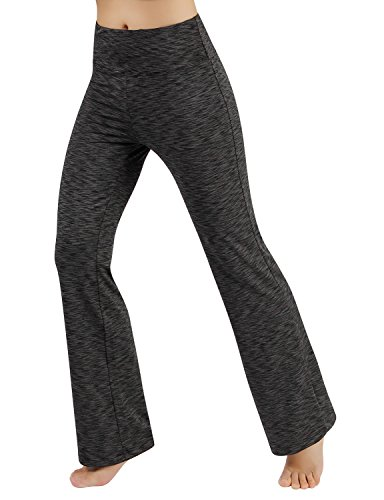 Gap Yoga Pants - ODODOS Power Flex Boot Cut Yoga Pants Tummy Control Workout Running 4 Way Stretch Boot Leg Yoga Pantss with Hidden Pocket,SpaceDyeCharcoal,XX-Large