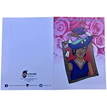 Passion Fruit Mom's Many Hats Greeting Card, 7'' L X 5'' W