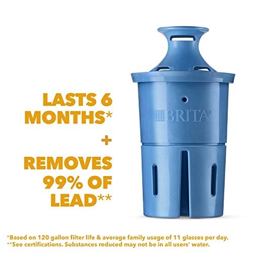 Brita Longlast+ Water Filter, Longlast+ Replacement Filters for Pitcher and Dispensers, Reduces Lead, BPA Free, 1 Count (Package May Vary)