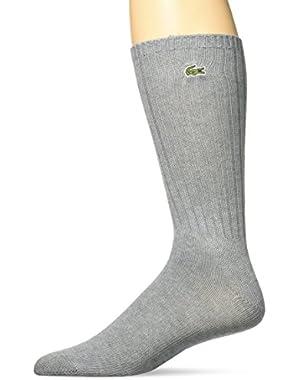Men's Classic Crew Sock, Chine Platinum, 6