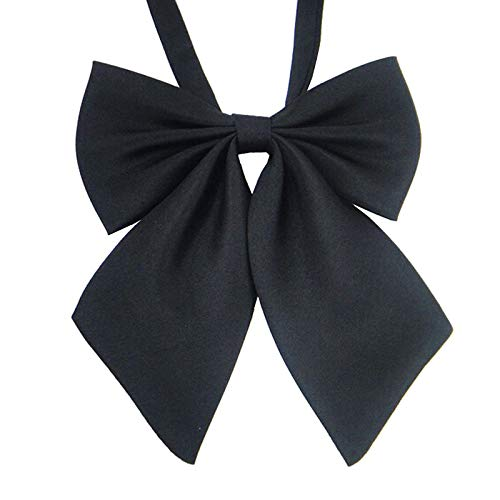 Ladies Adjustable Pre tied Bowtie - Solid Color Bow Ties for Women ()