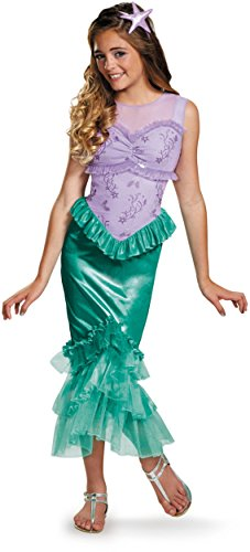 Disguise Ariel Classic Adult Costume Small (Adult Little Mermaid Halloween Costume)