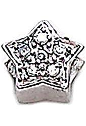 Zable Sterling Silver CZ Star Bead