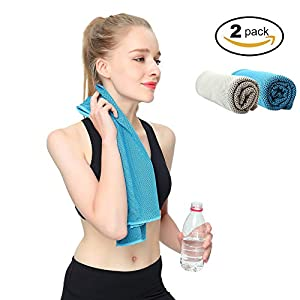 AuroTrends Cooling Towel, 2 Pack Face Scarf Cover Dustproof Fishing Scarf, Large Cooling Towel for Cycling Running Hiking Motoring for Summer 2Pack(34-Inch)